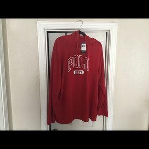 New Men's Polo T-Shirt Hoodie size XXL